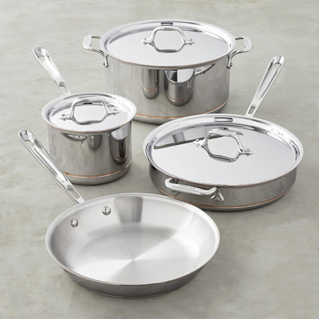 All-Clad Copper Core 7-Piece Cookware Set