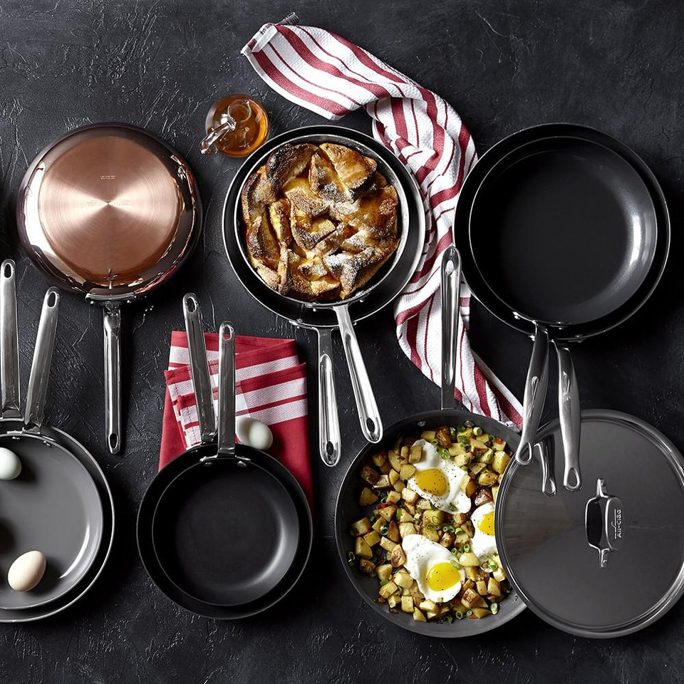 All-Clad d5 Stainless-Steel French Skillets