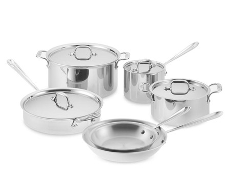 All-Clad D3 Tri-Ply Stainless-Steel 10-Piece Cookware Set