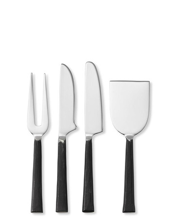 Burnished Cheese Knives, Set of 4