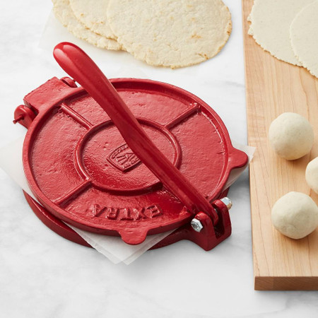 Cast Iron Tortilla Press, Red