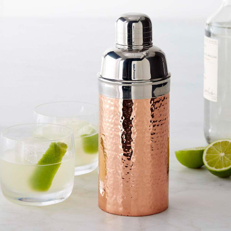 Copper Hammered Cocktail Shaker