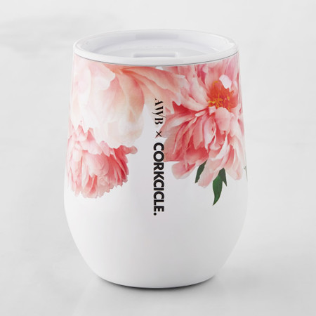 Corkcicle Insulated Floral Stemless Wine Glass
