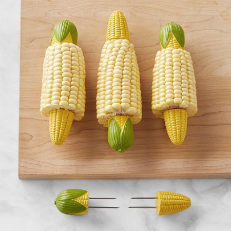 Corn-Shaped Corn Picks, Set of 4