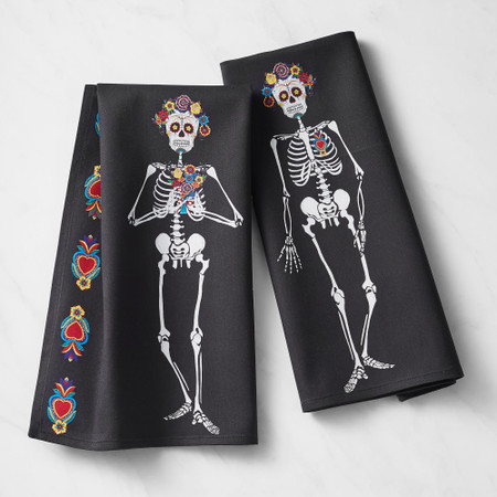 Day of the Dead Tea Towels, Set of 2
