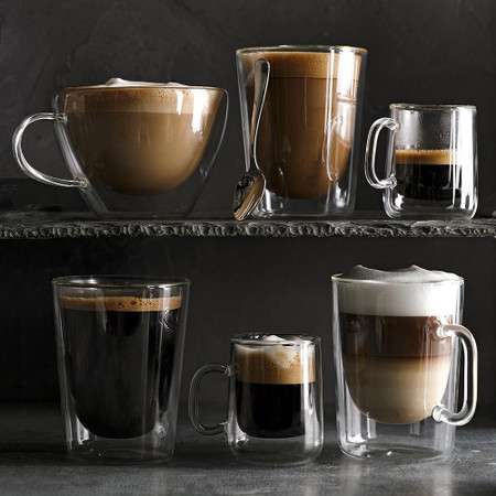 Double Wall Glass Latte Mug Williams Sonoma Au