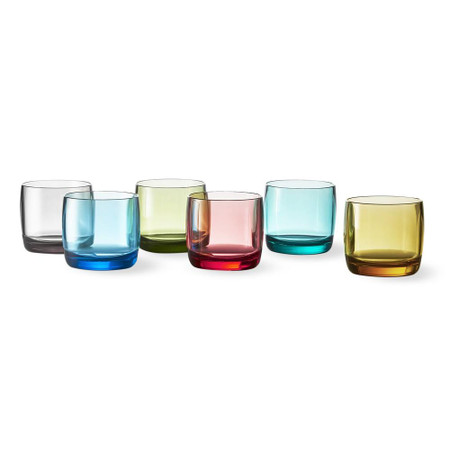 DuraClear® Tritan Double Old-Fashioned Glasses, Set of 6, Multicoloured