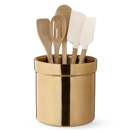 Gold Partitioned Utensil Holder