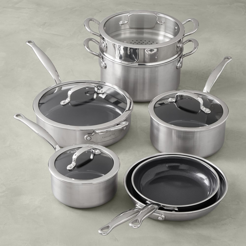 GreenPan™ Prestige Ceramic Non-Stick 11-Piece Cookware Set