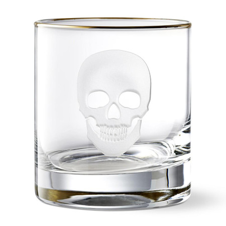Halloween Skull Double Old-Fashioned Glass