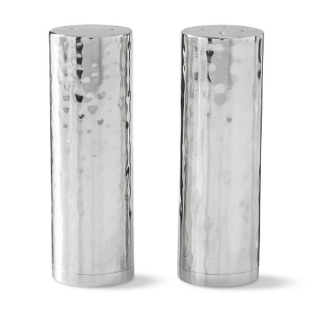 Hammered Silver Salt & Pepper Shakers