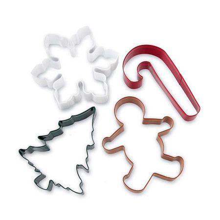 Holiday Cookie Cutters on Ring, Set of 4