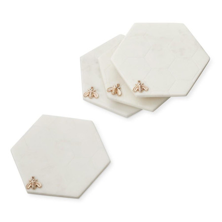 Honeycomb Coasters, Set of 4