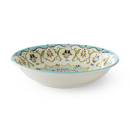 Iznik Tile Outdoor Melamine Serving Bowl