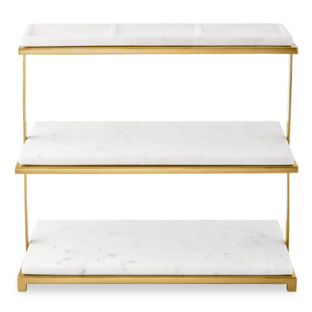 Marble & Brass 3 Tiered Stand