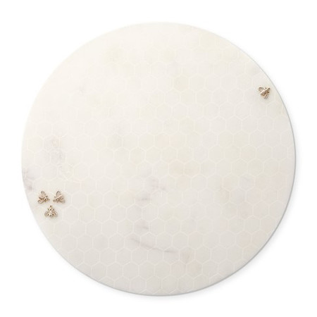 Marble Honeycomb Round Cheese Board
