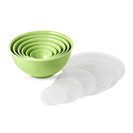 Williams Sonoma Melamine Mixing Bowls, Set of 6, Lime Green