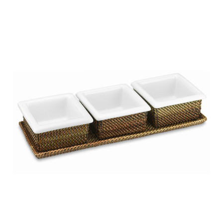 Nito Condiment Caddy with Ceramic Inserts