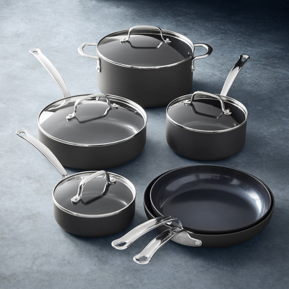 Open Kitchen by Williams Sonoma Ceramic Non-Stick 10-Piece Cookware Set