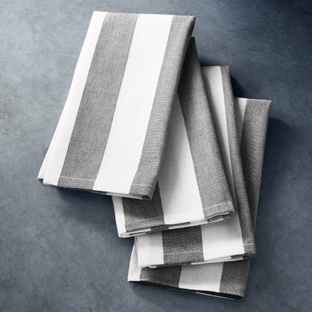 Open Kitchen by Williams Sonoma Chambray Stripe Napkins, Set of 4