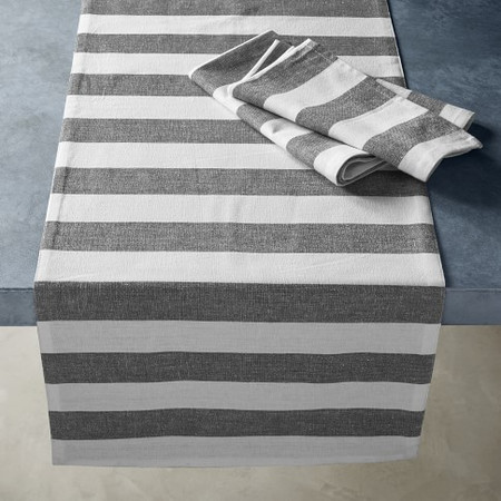 Open Kitchen by Williams Sonoma Chambray Stripe Table Runner
