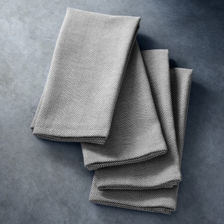 Open Kitchen by Williams Sonoma Herringbone Napkins, Set of 4