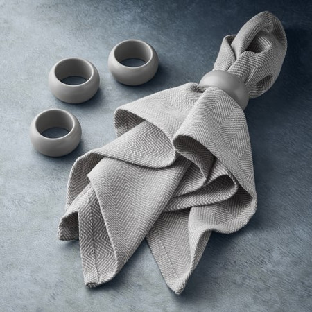 Open Kitchen by Williams Sonoma Napkin Ring, Matte Grey