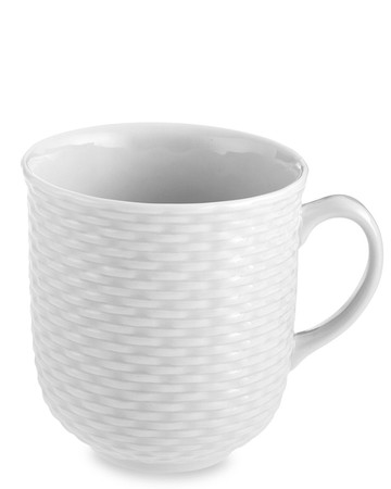 Pillivuyt Basketweave Porcelain Mug