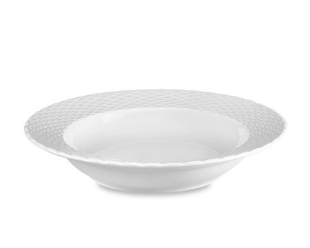 Pillivuyt Basketweave Porcelain Soup Plate