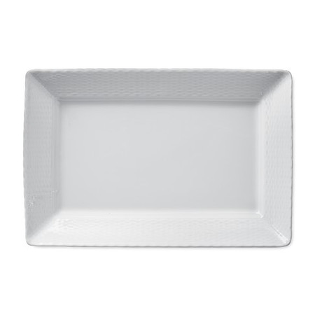 Pillivuyt Basketweave Porcelain Rectangular Platter