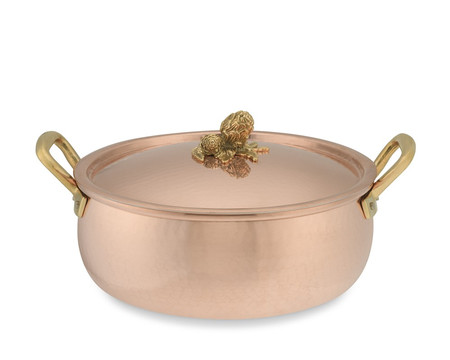 Ruffoni Copper Artichoke Handle Braiser, 5.6 L