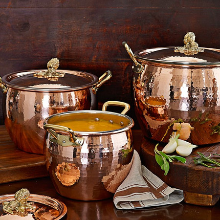 Ruffoni Copper Artichoke Handled Stock Pots