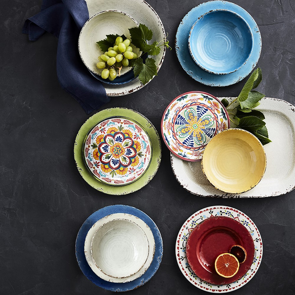 Rustic Outdoor Melamine Dinnerware Collection