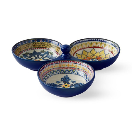 Sicily Three-Section Condiment Dish