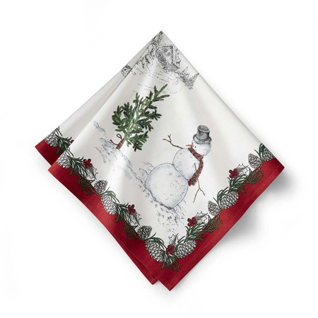 Snowman Napkins, Set of 4