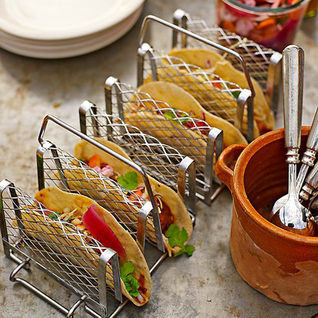 Stainless Steel Interlocking Taco Rack