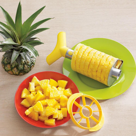 Stainless-Steel Pineapple Slicer & Dicer