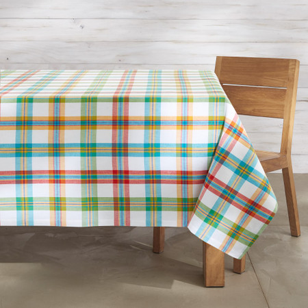 Check Oilcloth Outdoor Tablecloth
