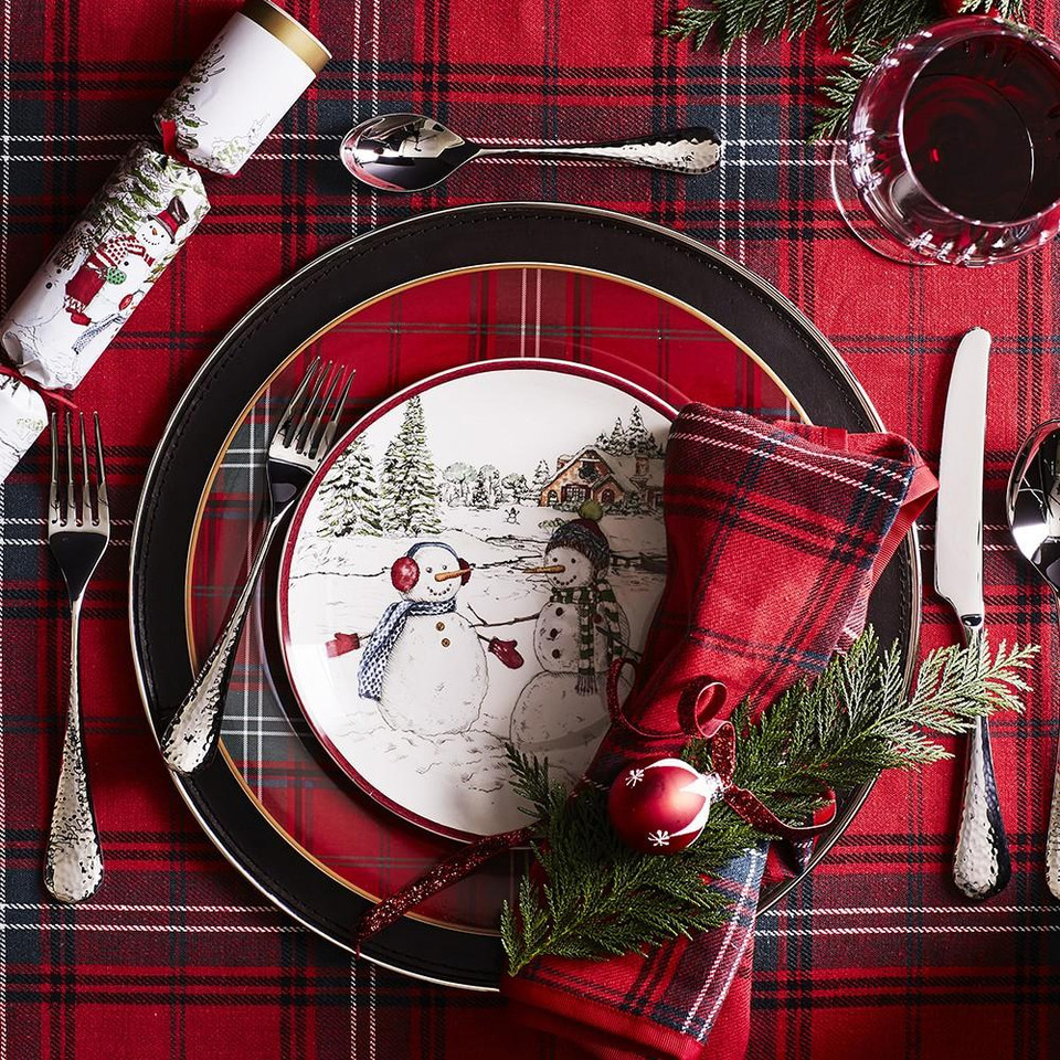 Classic Tartan Napkins, Set of 4, Red