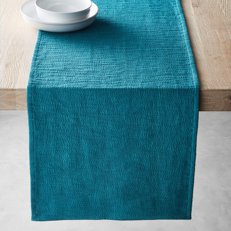 Textured Table Runner, Teal