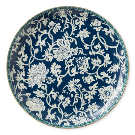 Crane Blue French Tapestry Round Platter