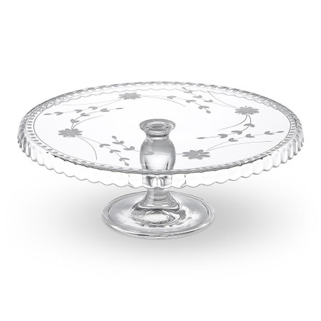 Vintage Etched Cake Stand