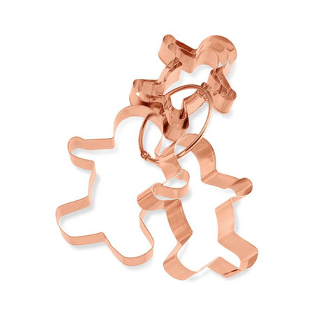 Williams Sonoma Gingerbread Man Copper Cookie Cutter Set on Ring