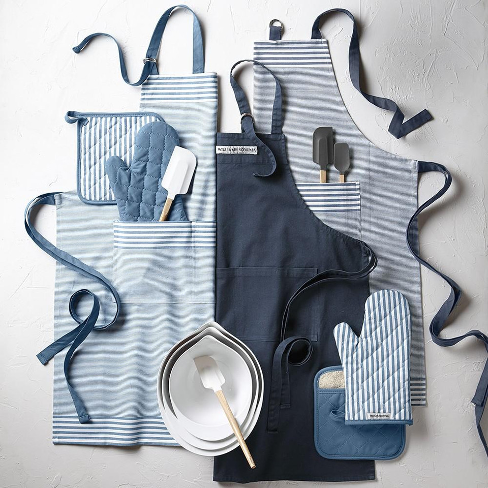 Williams Sonoma Bay Stripe Apron, Navy