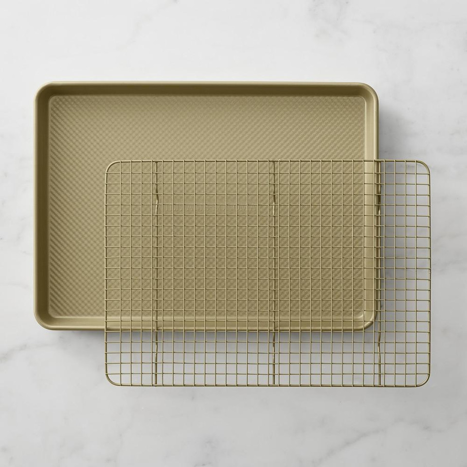 Williams Sonoma Goldtouch® Nonstick Half Sheet Pan with Baking Rack