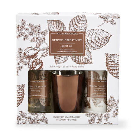 Williams Sonoma Spiced Chestnut Guest Set