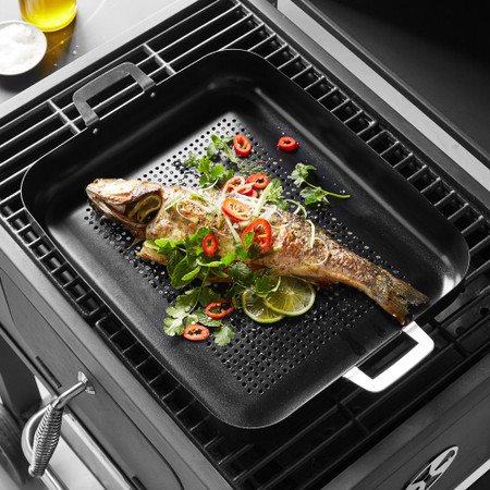 Williams Sonoma High-Heat Non-Stick Outdoor Roasting Pan