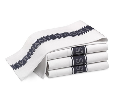 Williams Sonoma Logo Tea Towels, Set of 4 - Navy