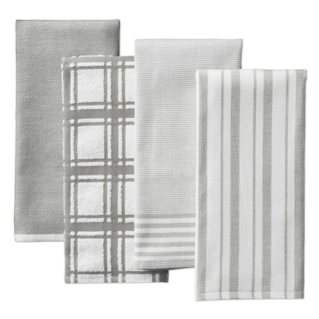 Williams Sonoma Super Absorbent Multi-Pack Tea Towels, Set of 4