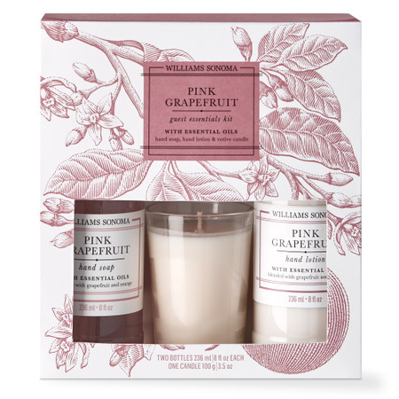 Williams Sonoma Pink Grapefruit Guest Set